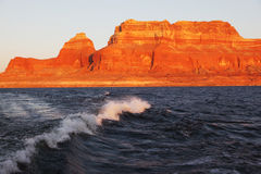 Travel voyage by boat on Lake Powell Stock Images