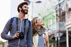 Travel walking city Stock Photography