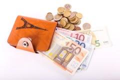 Travel wallet Euros - France Royalty Free Stock Photo