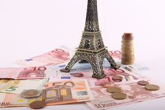 Travel wallet Euros - France Royalty Free Stock Photography