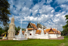 Travel at Wat Yai Suwanaram, Phetchaburi, Thailand. Stock Images