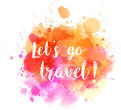 Travel watercolored splash Royalty Free Stock Images