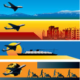 Travel Web Banner Templates Royalty Free Stock Photography
