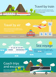 Travel web banners set. Royalty Free Stock Images