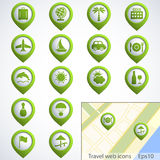 Travel web buttons set Stock Images