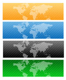 Travel Web header / world map stock photo