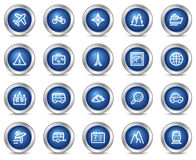 Travel web icons Stock Photo