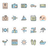 Travel Web Icons Stock Images