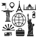Travel web and mobile icons. Vector. Stock Photos