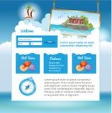 Travel web site Royalty Free Stock Photos