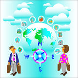 Travel whole world. And all countrys for you Stock Photo