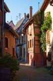 Travel wine route in France. La route des vins Royalty Free Stock Images