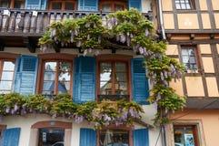 Travel wine route in France. La route des vins Stock Image