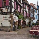 Travel wine route in France. La route des vins. Stock Photography
