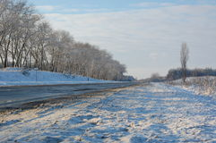 Travel on winter roads Royalty Free Stock Photos