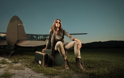 Travel woman Royalty Free Stock Photography