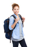 Travel woman with backpack Stock Photo