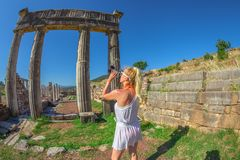 Travel Photographer Greece royalty free stock photography
