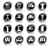 Travel and wonders icon set Royalty Free Stock Photo