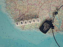 Travel Word of the beads Royalty Free Stock Image