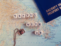 Travel Word of the beads Stock Photography