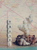 Travel Word of the beads Royalty Free Stock Photography