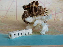 Travel Word of the beads Royalty Free Stock Images