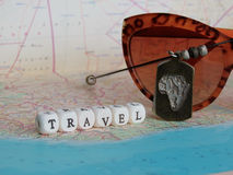 Travel Word of the beads Stock Image