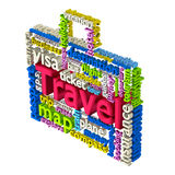 Travel Word Cloud Royalty Free Stock Images