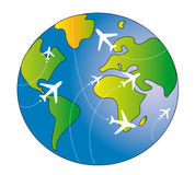 Travel world Stock Image