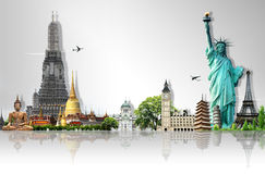 Travel the world. Background concept Royalty Free Stock Images