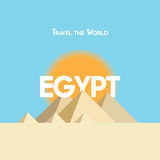 Travel the world - Egypt Royalty Free Stock Images