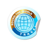 Travel The World Icon Vector Illustration Royalty Free Stock Photography