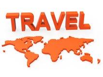 Travel World Indicates Worldly Globalization And Touring Stock Photos