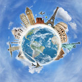 Travel the world monument concept Stock Image