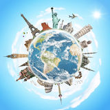 Travel the world monument concept Royalty Free Stock Photography