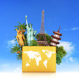 Travel the world monument concept, Stock Image