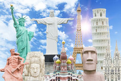 Travel the world monuments concept Royalty Free Stock Photos