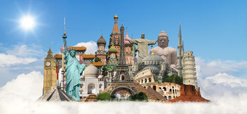 Travel the world monuments concept Royalty Free Stock Image