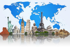 Travel the world monuments concept Royalty Free Stock Images
