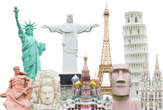 Travel the world monuments concept isolate Royalty Free Stock Image