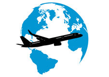 Travel world by plane Stock Photos