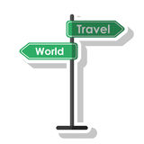 Travel and world road sign tourism  concept Royalty Free Stock Image