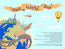Travel World Tour Poster Stock Image