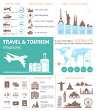 Travel and world tourism Infographic.  Royalty Free Stock Photo
