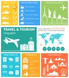 Travel and world tourism Infographic. Vector Royalty Free Stock Image