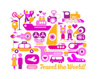 Travel the World vector poster design Stock Photo