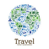 Travel world wide. Over white background vector illustration vector illustration