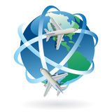 Travel worldwide vector symbol Royalty Free Stock Photos