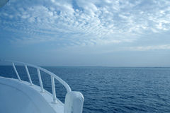 Travel on the yacht. Conceptual photo for travel on the yacht stock photo